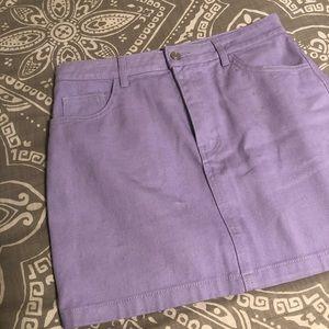 Lilac Jean Skirt